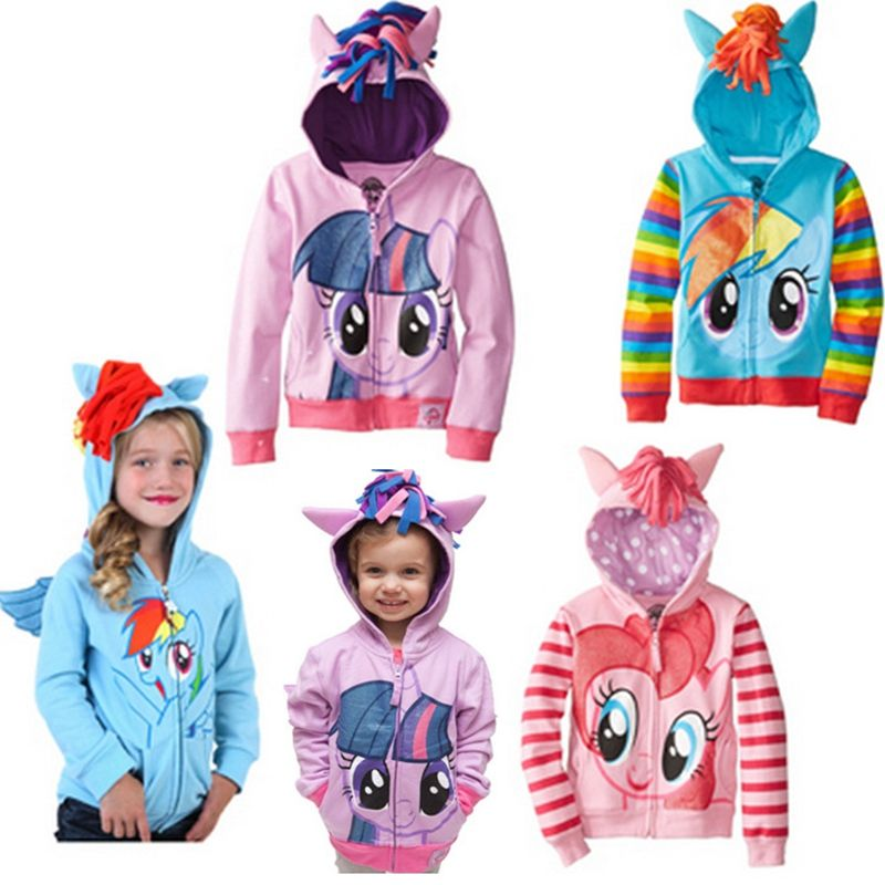2018 Cute Brand Children's Outerwear, Boys Girls Clothing Coat Little Pony Jackets, My Kids Boy's Coat Avengers Hoodies/sweater