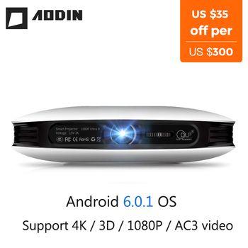 AODIN M18 mini LED Projecteur 4 k 3D DLP projecteur de Poche Android HDMI Entrée 2g DDR3 Full HD 1080 p portable projecteur home cinéma