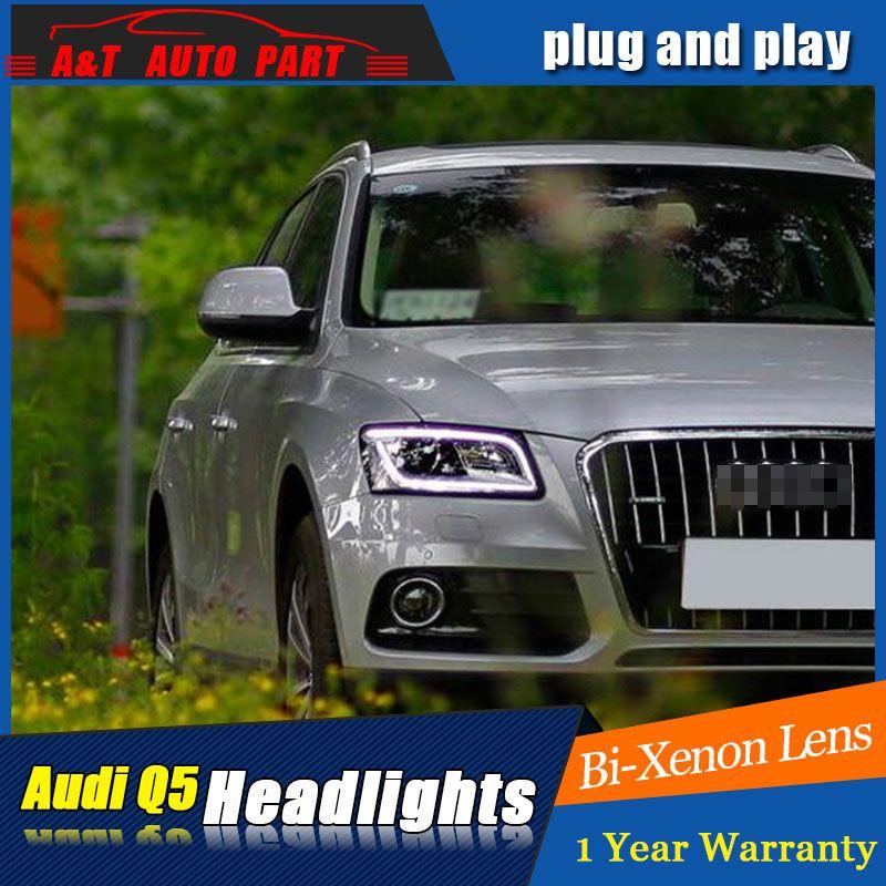 Auto Styling LED Kopf Lampe für AUDI Q5 scheinwerfer 2009-2016 für Q5 kopf licht LED winkel augen drl h7 hid Bi-Xenon-Objektiv abblendlicht