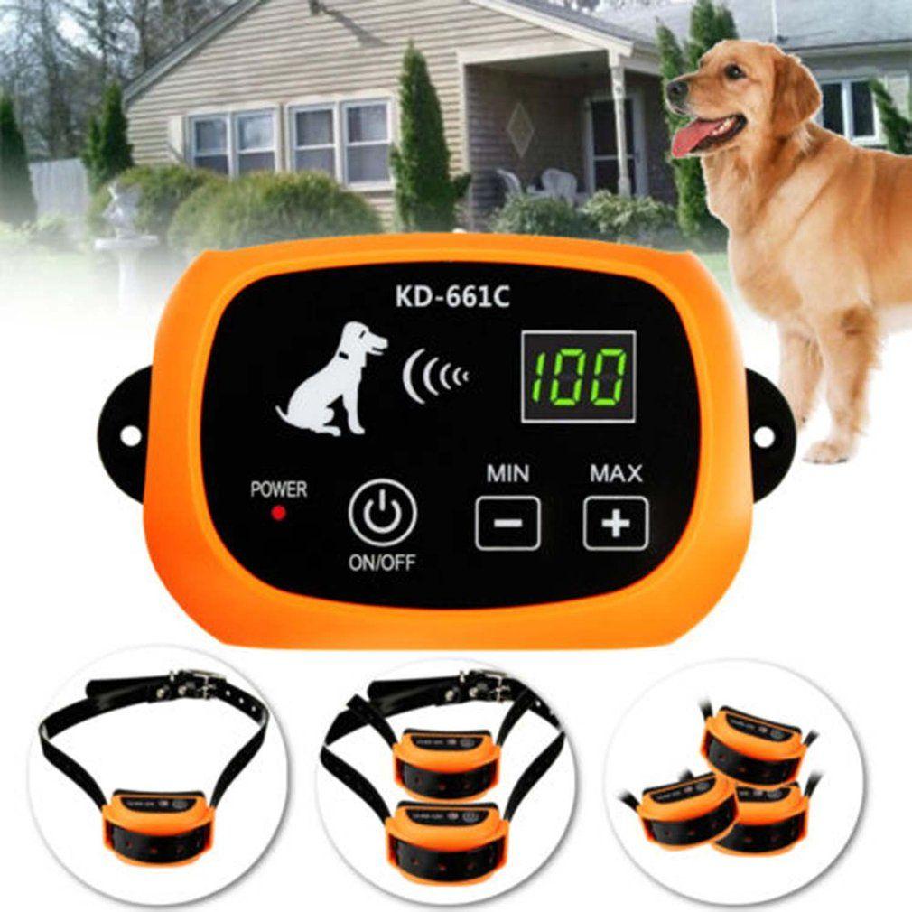 Drahtlose Wiederaufladbare 1/2/3 Hund System Zaun Keine-Draht Pet Containment System Wasserdichte Wiederaufladbare Drahtlose Pet zaun