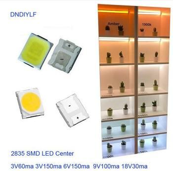 New High Brightness LED 1 Watt white smd 2835 LED Diodes 120lm/w 9V 6000K  Current 100mA Factory Outlet Free Shipping