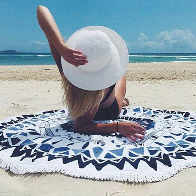 Летние пляжные Полотенца богемный мандалы Тотем лотоса Коврики Одеяло Кемпинг Коврики деревьев коврик 2017ing