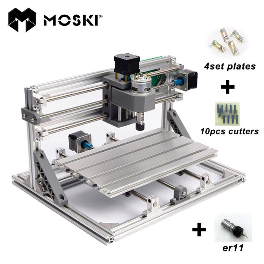 MOSKI, CNC 1610 avec ER11, bricolage CNC machine à graver, mini Pcb fraiseuse, Bois machine de découpe, CNC routeur, CNC 1610, meilleurs jouets