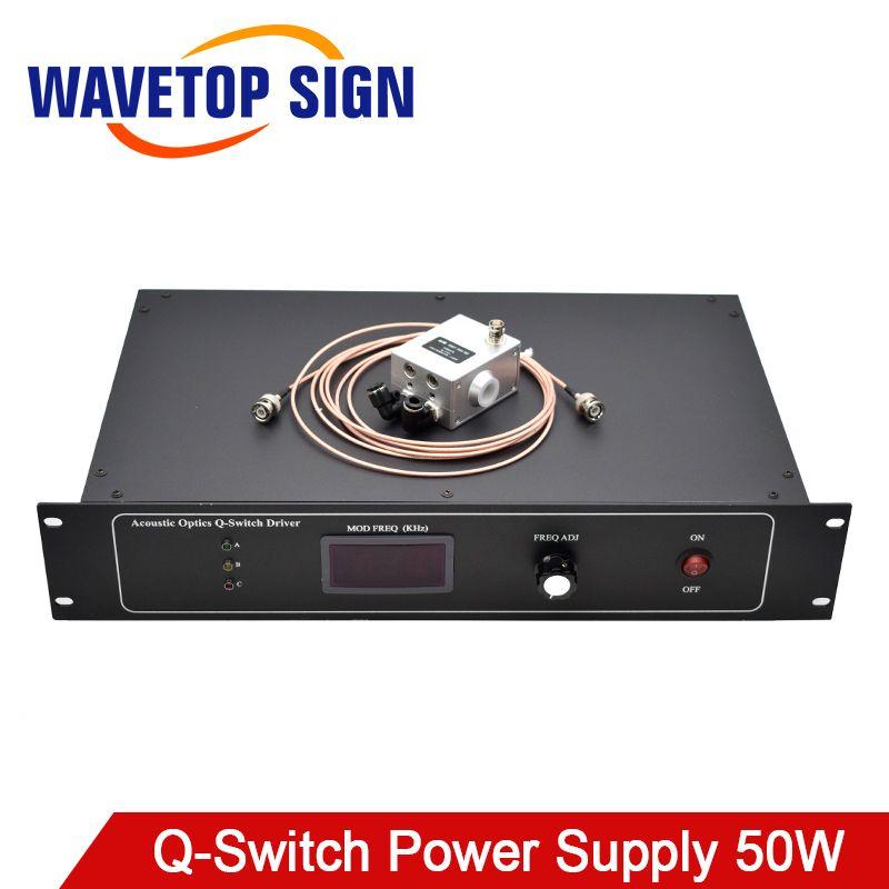WaveTopSign Akustische Optik Q-Schalter Netzteil QSGSU-5 + Q-Switch Fahrer YAG Laser Kennzeichnung Maschine 50 W teile