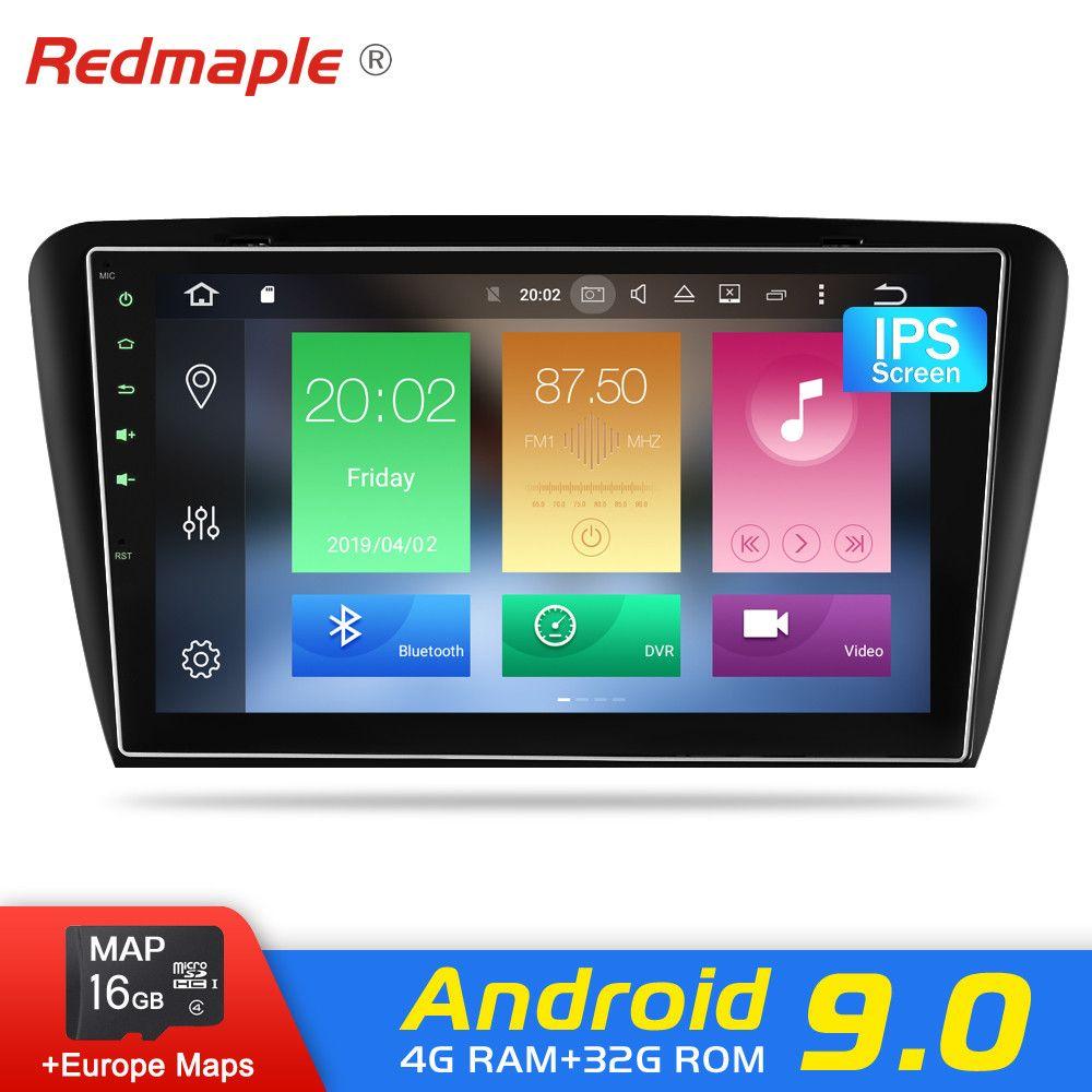 4G RAM Android 9.0 auto Radio Stereo-DVD-Spieler Für Skoda Octavia A7 2013-2016 Auto Audio GPS Navigation video Stereo Multimedia