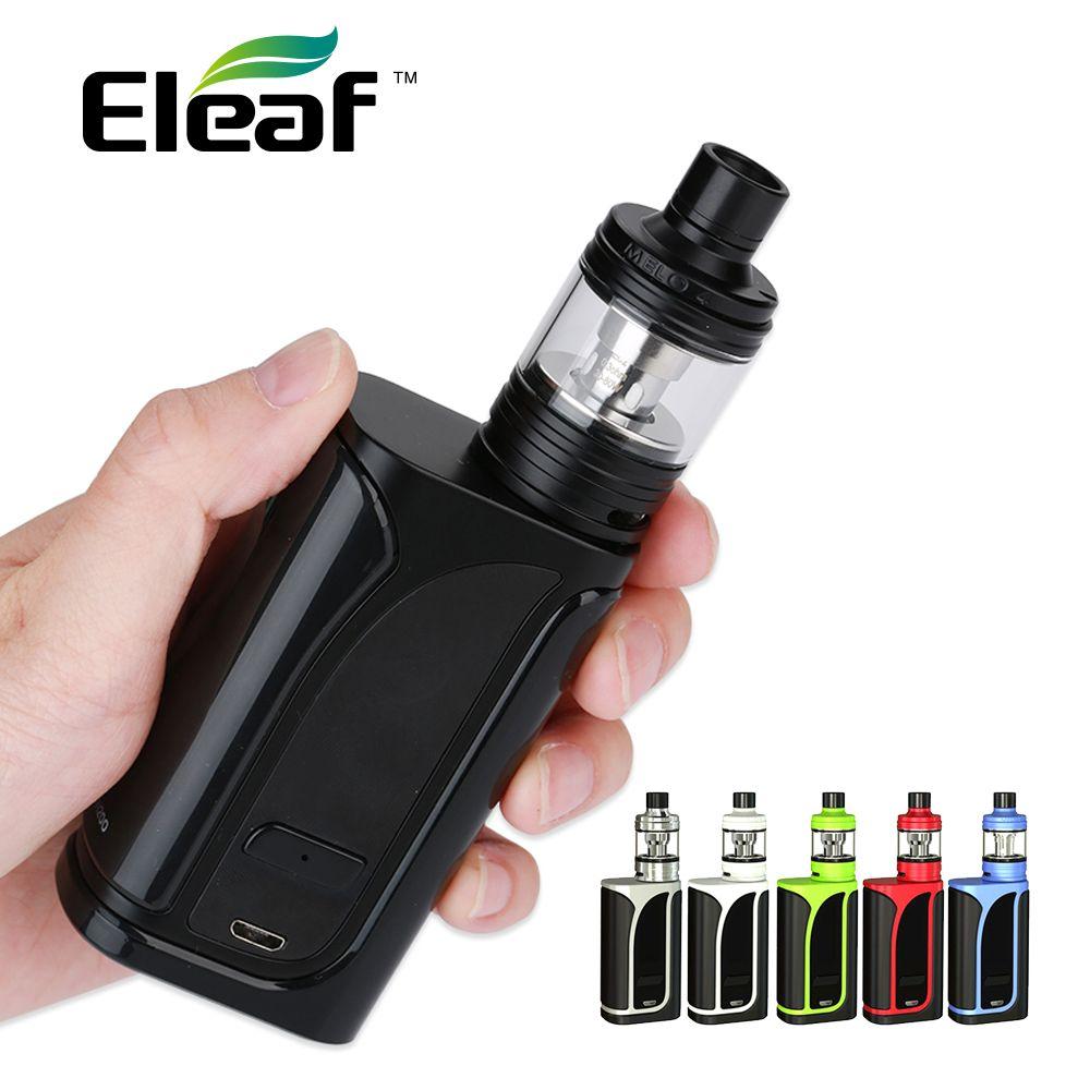 Authentic <font><b>Eleaf</b></font> iKuun i200 iKuu i200 TC Kit 4600mAh Battery with Melo 4 Atmoizer 4.5ml w/ EC2 Coils E-cigarette Vape Kit