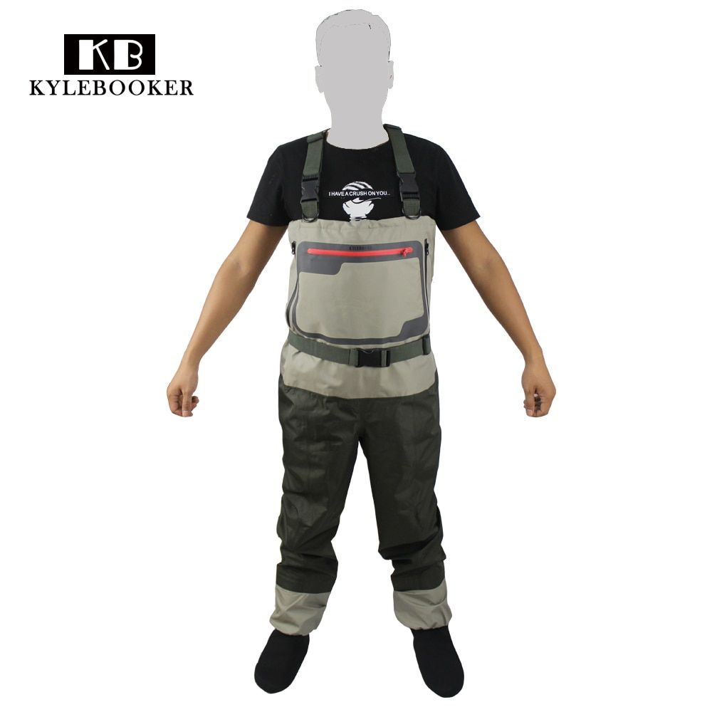 Men's Hunting wader Breathable Stocking foot Wader Light weight Convertible Fishing Chest Waders Wading Pants For Fly Fishing