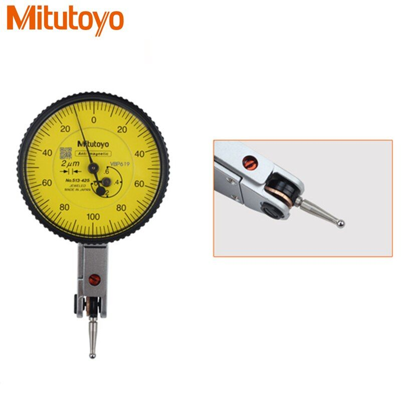 100% Original Japan Mitutoyo 513-425E Dial Indicator 0-0.6mm/0.002mm Micrometer Dial Test Gauge Measuring Tools