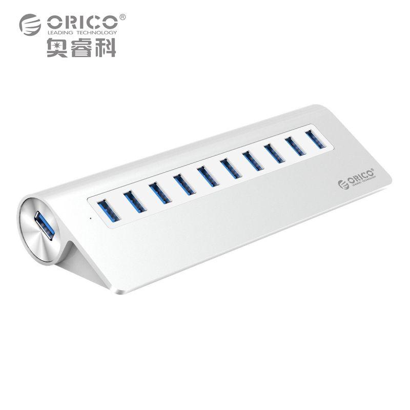 ORICO M3H10-SV Aluminium Neue Mac Design 10 Port EU Stecker High Speed Powered USB 3.0 Hub mit VL812 Chip