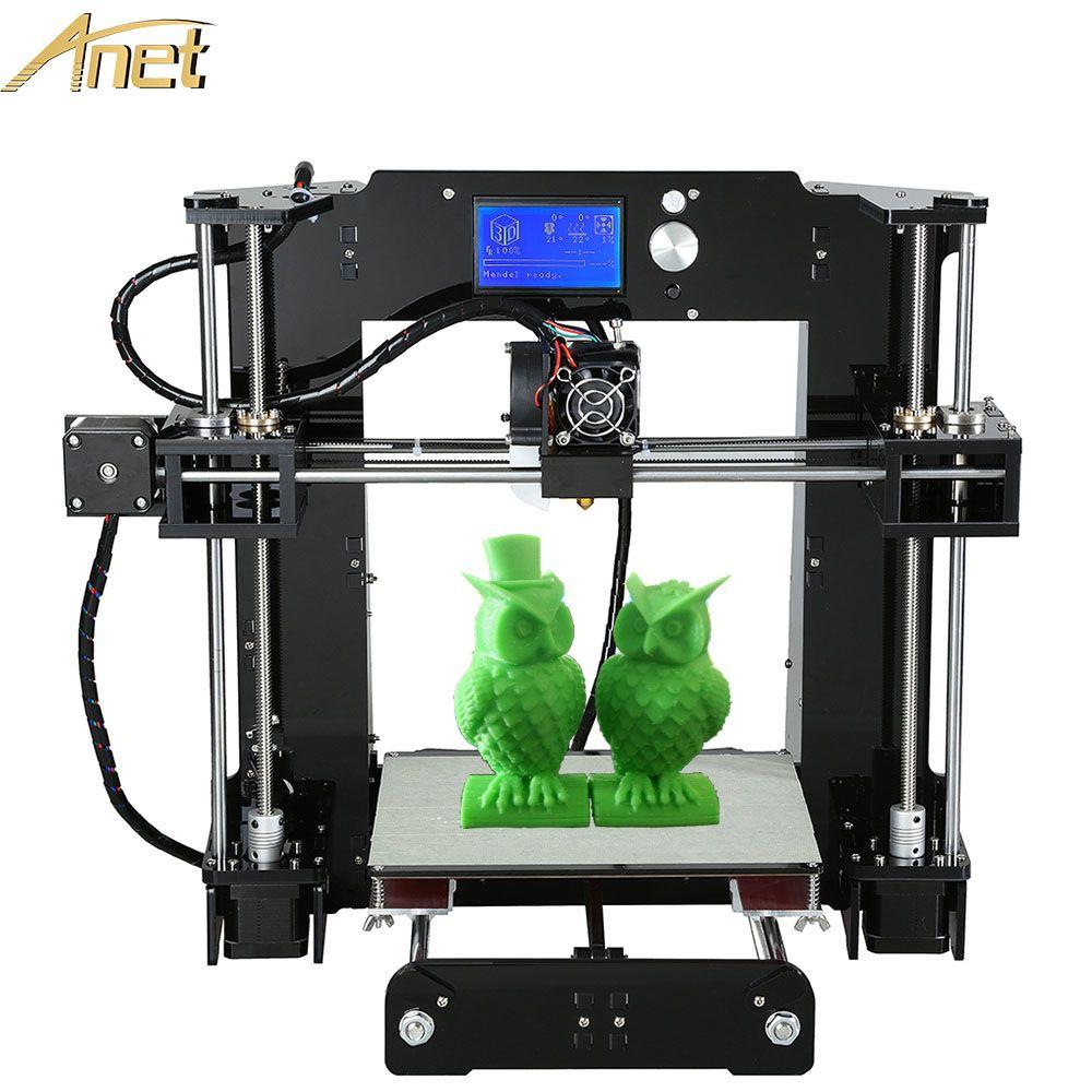 Chinese Supplier Cheap 3D Printers Anet A8 A6 A3S Desktop Reprap Prusa i3 DIY 3D Printer Kit High Precision Printing Machine