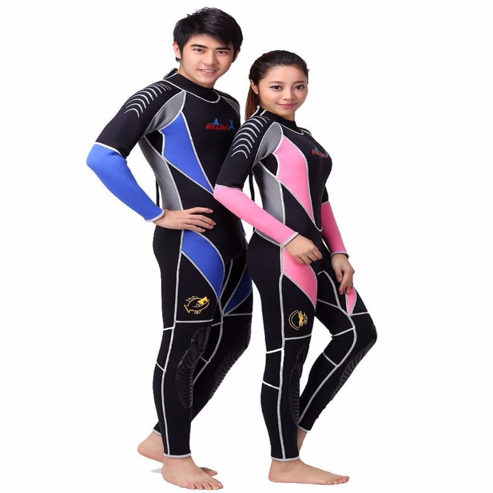 Neopren 3 MM tauchen neoprenanzug Liebhaber Neoprenanzug Ausrüstung Schnorcheln Overall einteilige langärmelige Triathlon Speerfischen Surf