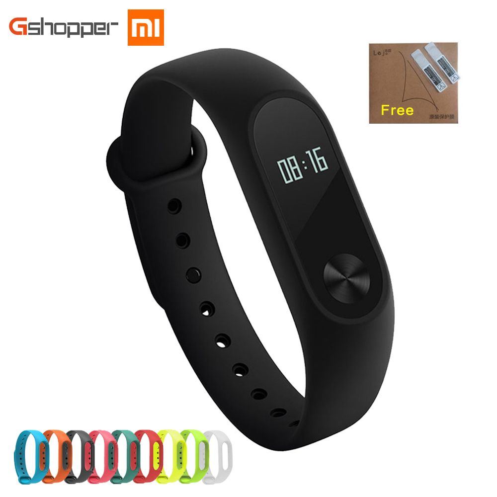 Original Xiao mi banda 2 wristband opcional colorido Correas Sleep Tracker IP67 impermeable Smart mi banda para Android ios teléfonos