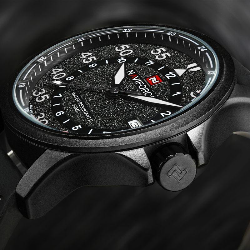 NAVIFORCE Mens Watches Brand Luxury Male Quartz Watch Men Waterproof Sports Military Watch Men Leather Clock Rrelogios Masculino