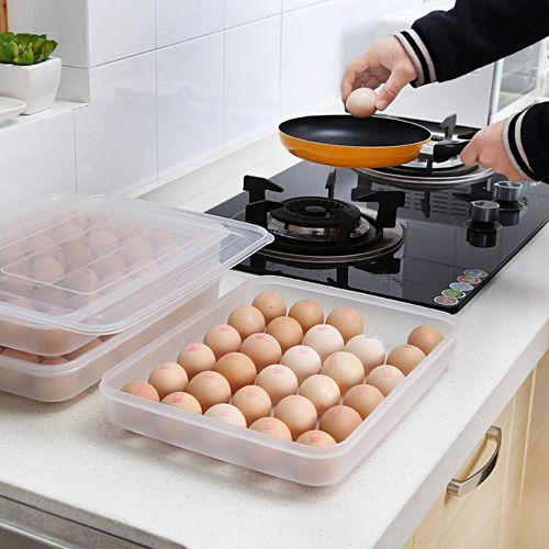 Ясно, большие Ёмкость Портативный дома Пикник Пластик Яйцо Box Дело 30 держатель Контейнер для хранения на холодильник