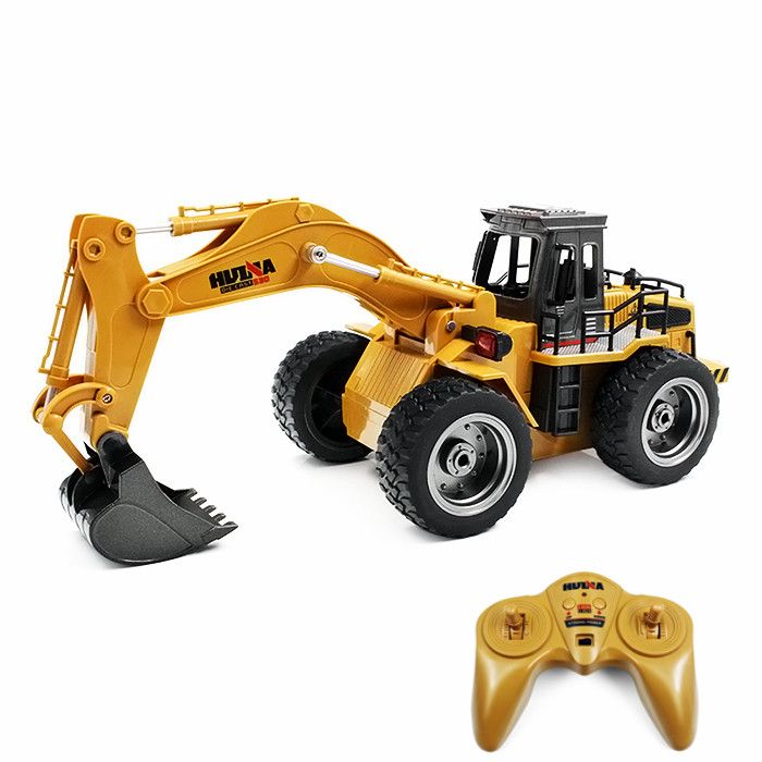 HUINA TOYS 1530 1:18 6CH RC Alloy Rooter Truck RTR With Movable Lifting Arm / Mechanical Sound / LED Light Kids Christmas Gift