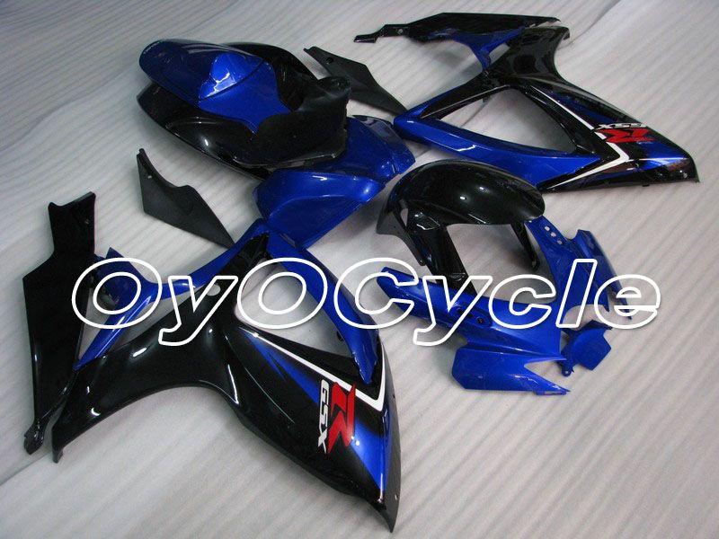 Für 06-07 Suzuki GSXR600 GSXR750 K6 K7 GSXR 600 750 Injection Motorrad ABS Verkleidung Karosserie Kit 2006 2007 schwarz Blau