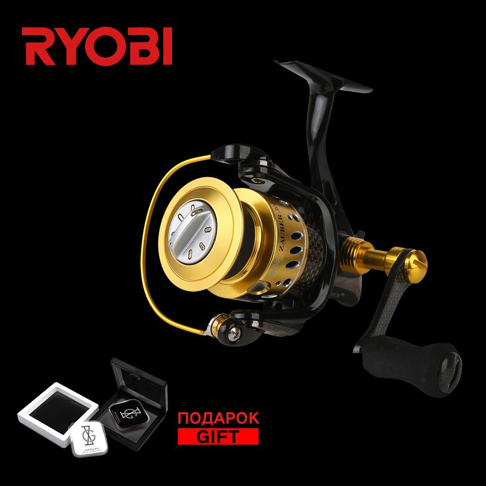 RYOBI ZAUBER CF 3000 Metal Body Wheel Carbon <font><b>Handle</b></font> Flat EVA Knob 10 Bearings Aluminium Spool 5.0:1 Speed Spinning Fishing Reel