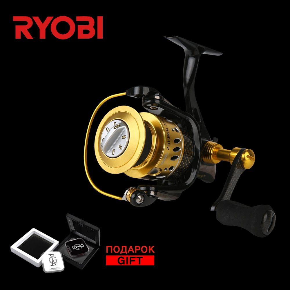 RYOBI ZAUBER CF 3000 Metal Body Wheel <font><b>Carbon</b></font> Handle Flat EVA Knob 10 Bearings Aluminium Spool 5.0:1 Speed Spinning Fishing Reel