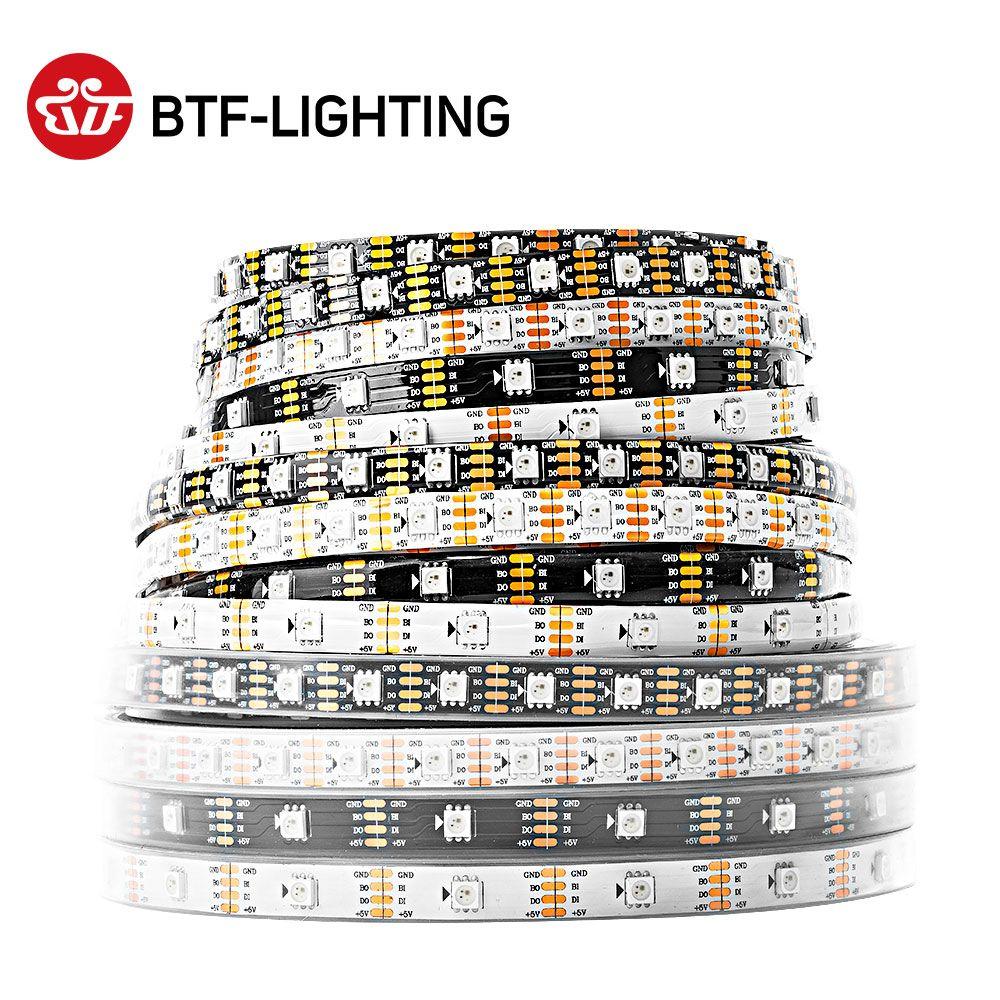 Adressable 1 m/5 m 30/60/144 led/m DC5V WS2813 RGB led pixel bande, NON-étanche IP30/Étanche revêtement IP65/tube IP67