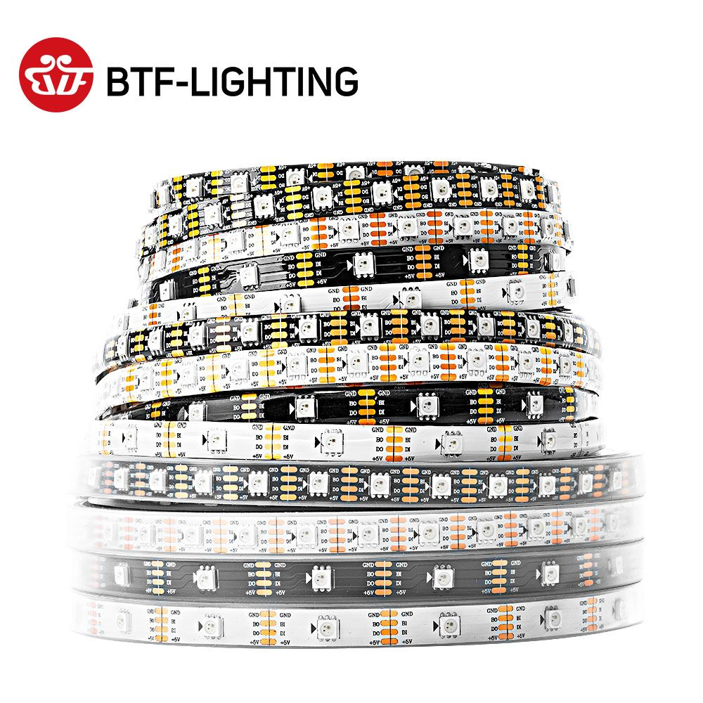 WS2813 bande Led RGB double Signal 1 m/4 m/5 m 30/60/100/144 pixels/leds/m (WS2812B mis à jour) PCB noir/blanc IP30/IP65/IP67 DC5V