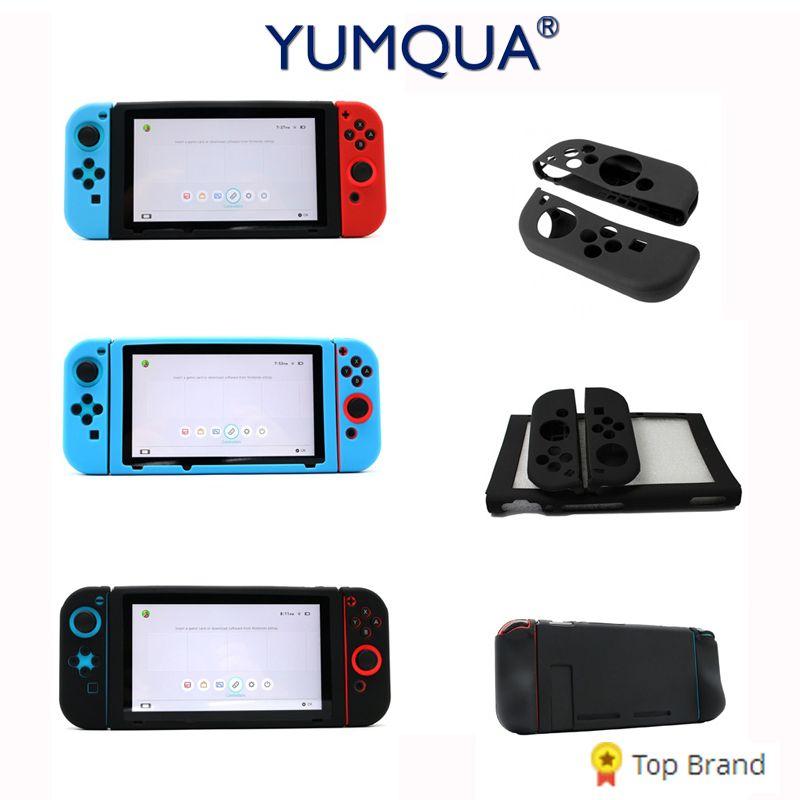 YUMQUA Mobile Téléphone Caser pour Nintendo Commutateur Silicone Peau Housse De Protection Cas Hôte Silicone Coloré Jeu Pad Cas