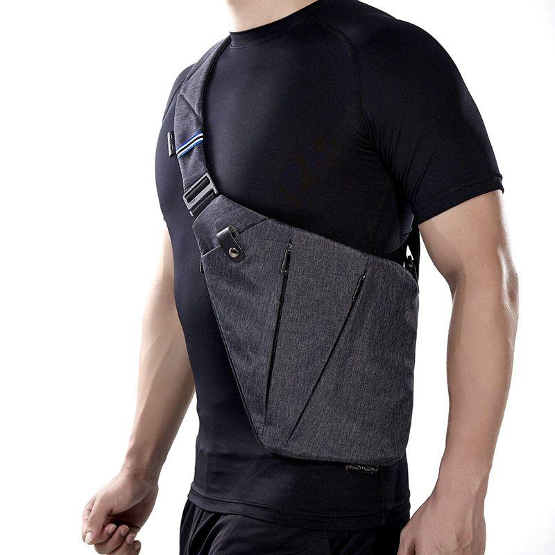 NewBring Compact Unique Épaule Sacs pour Hommes Étanche Nylon Bandoulière sacs Sac de Messager Mâle