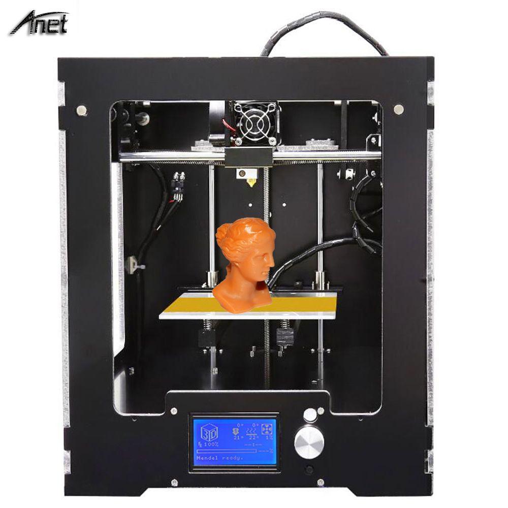 Hohe Druckqualität Anet A3S 3D Drucker Desktop Vollen Montiert 3D Drucker Arbeits Größe 150*150*150mm Metallrahmen 0,4 MM Nozzel