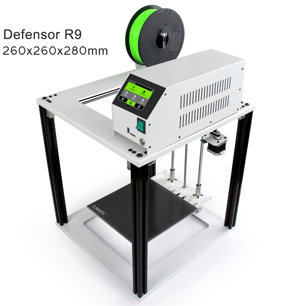 Noulei Touch Screen Easy 3D Printer Defensor R9 Large Size cube Full Metal Aluminum Frame Impresora 3 D DIY Kit for beginners