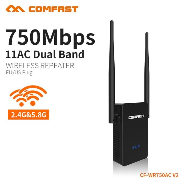 COMFAST 750Mbps WIFI Repeater Signal Amplifier 2.4G/5.8G Wireless Wifi Router Repeater AP 3 Functions Roteador EU/US CF-WR750AC