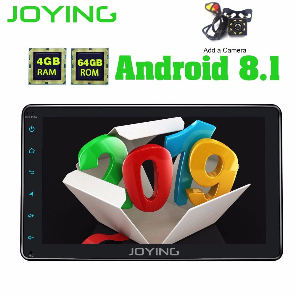 8 JOYING Doppel 2 2Din Kopf Einheit Band Recorder Universal Android 8.1 Auto Radio Stereo GPS Navigation mit Digital Verstärker