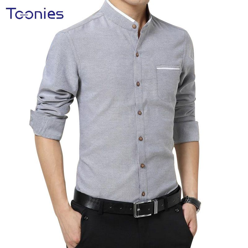 New 2017 Brand Clothes Mens Dress Shirts Business Casual Chemise Homme Long Sleeved Slim Fit Shirt Men Work Office Camisa Social
