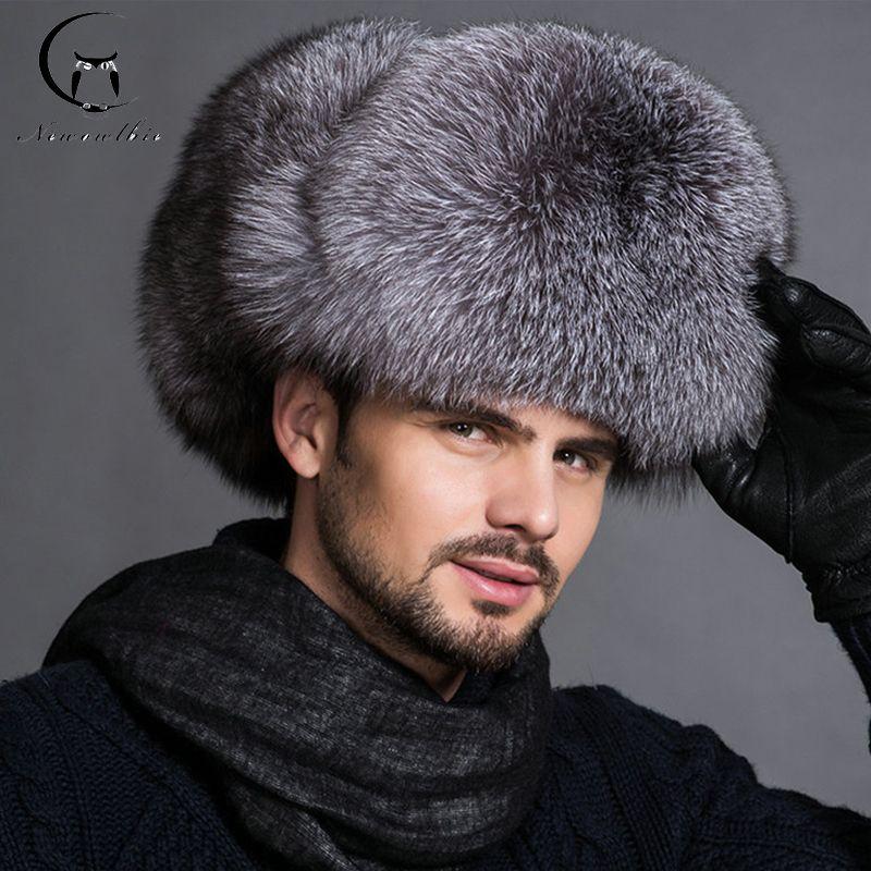 Hot high-end luxury fur hat Men's fox fur hat Lei Feng cap ear cap fur necessary hat