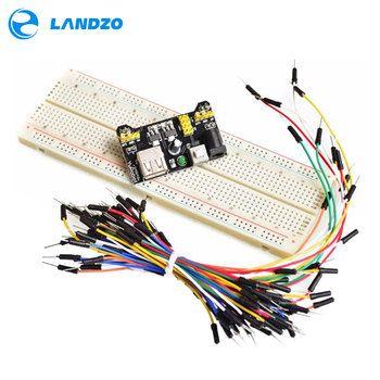 MB102 Planche À Pain module de puissance + MB-102 830 points Soudure Prototype Pain kit de carte 65 fils de liaison Flexibles