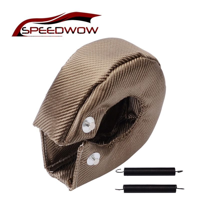 SPEEDWOW T3 Titanium Turbo Blanket Heat Shield Turbocharger Cover Turbo charger Cover Wrap Fit For T2 T25 T28 GT30 T35