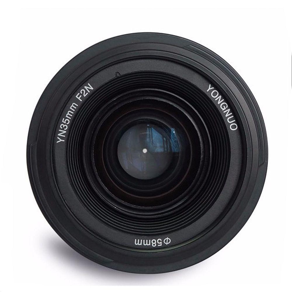 Yongnuo 35mm lentille YN35mm F2 objectif Grand-angle Grand Ouverture Fixe Auto Focus Lens Pour Nikon F Mount canon EF Mont EOS Caméras
