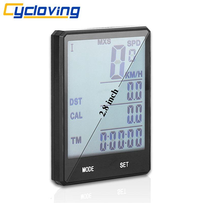 Cycloving 2.8 Wireless Bike Computer Odometer <font><b>Speedometer</b></font> waterproof Touch screen Cycling Stopwatch Bicycle Computer