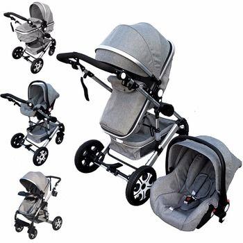 Baby Kinderwagen 3 In 1 Kinder Pram Auto Sitz Kinderwagen Für Neue Neugeborene kinderwagen bebek arabasi