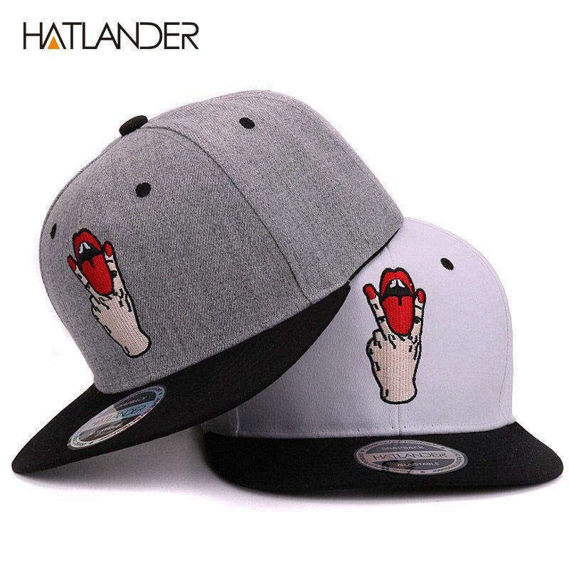 Hatlander Filles lettre casquettes de baseball bboy gorras planas chapeaux de sport en plein air femmes os snapback hommes décontracté ajusté casquette hip hop