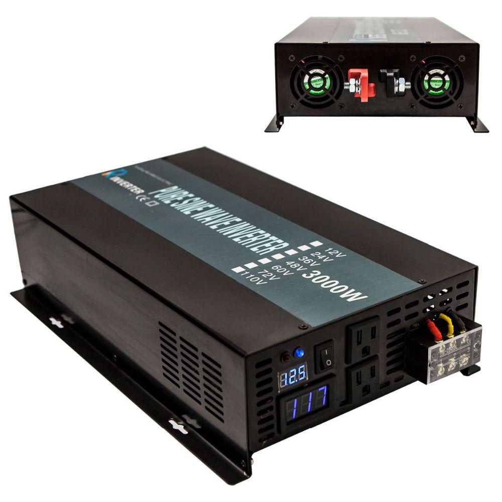 6000 Watt Peak Reinen Sinus-wechselrichter 12 V 220 V 3000 Watt Solar Auto Wechselrichter 12 V/24 V/48 V zu 120 V/220 V DC zu AC konverter