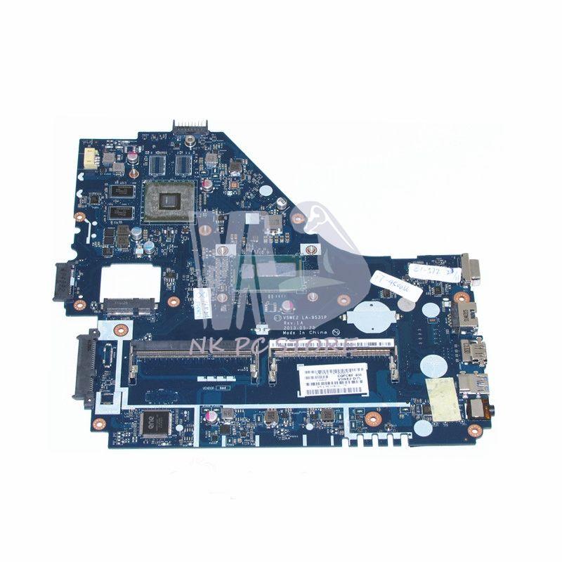 NOKOTION V5WE2 LA-9531P Notebook PC Main Board For Acer aspire E1-572G Laptop motherboard SR16E I7-4500U CPU DDR3