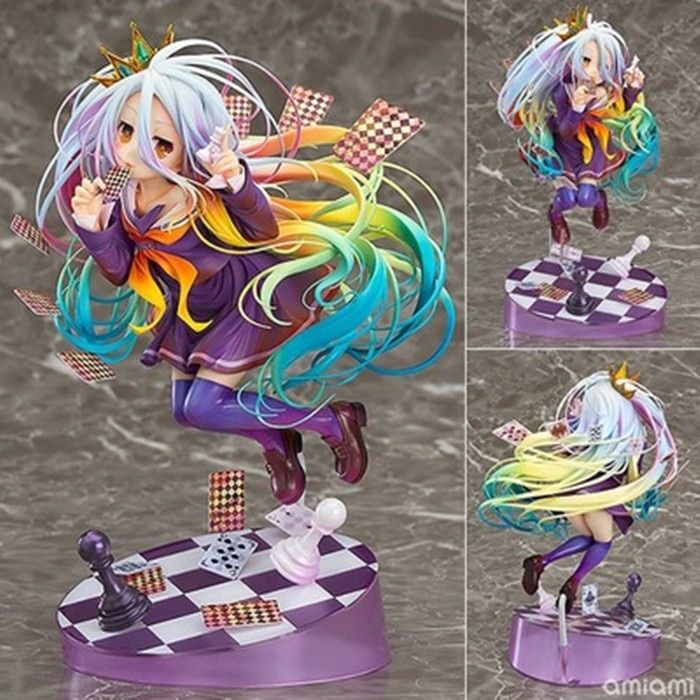 NEW 19cm Anime Life No Game No Life Shiro Game of Life Painted Third generation Game of Life 1/8 scale PVC action figure model