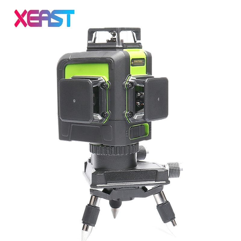 XEAST XE-903 12 line laser level 360 Self-leveling Cross Line 3D Laser Level green Beam With Tilt&Outdoor Mode can use Receiver