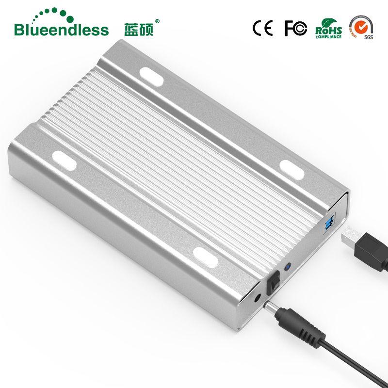 Blueendless 3.5 inch all-metal hdd case mobile hard disk box USB 3.0 sata 5gbps hard drive SATA hdd enclosure aluminum shell