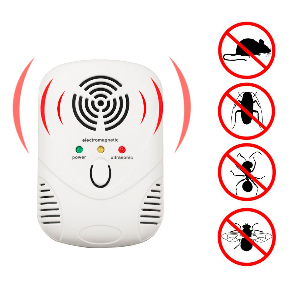 UE US Plug Électronique Ultrasons Anti Moustique Insecte Ménage Utilisons Inoffensive Rat Souris Pest Rejeter Répulsif Répulsif