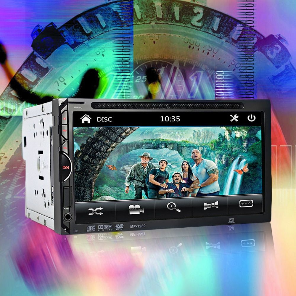 GBtiger 2 Din Car Video Player DVD 7'inch Touch Screen Bluetooth Stereo Radio Car Audio Car MP5 Player Support Rear View Camera
