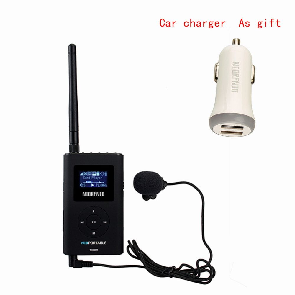 NIORFNIO Handheld Portable Radio 0.3W FM Transmitter MP3 Broadcast Radio Transmitter For Car Meeting Tour Guide Y4409A