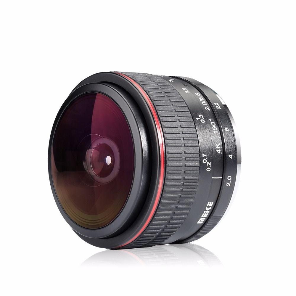Meike 6.5mm F2.0 Ultra-Wide Fisheye Lens for EOS NEX FX NIKON 1 AND M4/3 MOUNT cameras