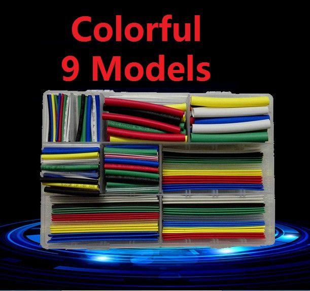 2:1 Assortiment de Polyoléfine Sans halogène Gaine Thermorétractable Tube Gaines de Câble de Fil Kit Épaissir Ignifuge Coloré Transparent DS