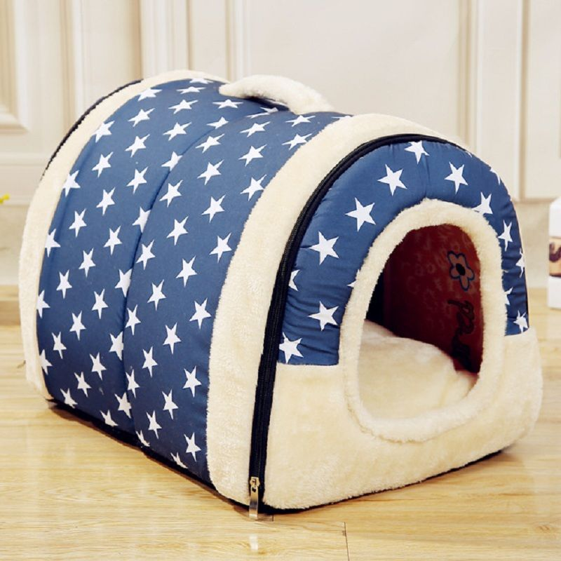 Pet Dog <font><b>House</b></font> Nest With Mat Foldable Pet Dog Bed Cat Bed <font><b>House</b></font> For Small Medium Dogs Travel Kennels For Cats Pet Products