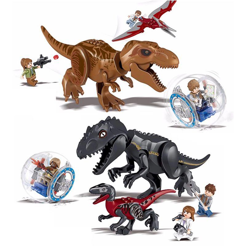Jurassic World 2 Blocs De Construction De Dinosaures Legoings Jurassique Dinosaure Chiffres Briques Tyrannosaurus Rex L'indominus Je T-rex Modèle Jouets